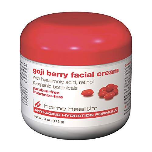 Home Health Goji Berry Facial Cream - Moisturizing And Anti-Aging Formula, Reduces Appearance Of Wrinkles, Protects, Hydrates And Revitalizes Skin - Paraben-Free, Fragrance-Free, Vegan - 4 oz