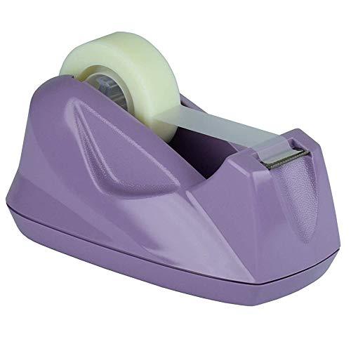 Acrimet Premium Desktop Tape Dispenser Non-Skid Base (Heavy Duty) (Purple Color)