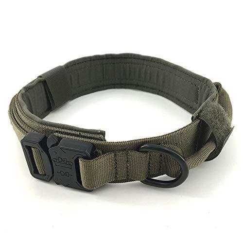 AGN Excellent Elite Spanker Tactical Hundehalsband, Militär-Training, Nylon, verstellbar, mit Kontrollgriff