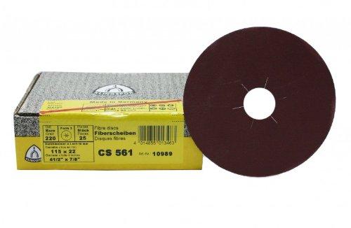 25 Stück Klingspor Fiberscheiben 115 mm Korn 36 Stern CS561
