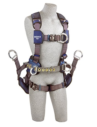 3M DBI-SALA ExoFit Nex 1113192 Tower Climbing Vest-Style Full Body Harness, Large, Blue/Gray