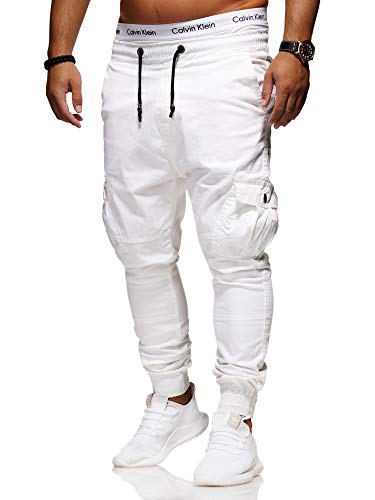 behype. Herren Cargo Biker Jeans-Hose 80-2329 Weiß W29