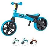 Yvolution Y Velo Junior Balance Bike ジュニア幼児用バイク | ペダルなし自転車|バランスバイク |キックバイク| 平衡感覚育成 | 対象年齢18ヶ月 1歳 2歳 3歳 4歳 ブルーblue 平衡感覚育成