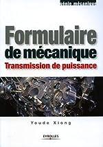 Formulaire de mécanique - Transmission de puissance d'Youde Xiong
