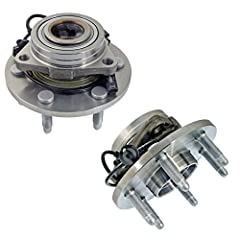 Front Wheel Bearing and Hub Assembly 2pc Set for 4WD 4x4 6-Lug ABS Cadillac Escalade Esv Ext 2007 2008 2009 2010 2011 2012 2013 2014 Chevrolet Suburban Tahoe 2007 2008 2009 2010 2011 2012 2013 2014 Chevrolet Avalanche Silverado 1500 2007 2008 2009 20...