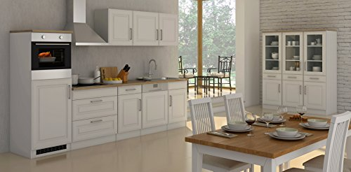Held Möbel 630.1.6197 Rom Küche, Holzwerkstoff, matt weiß, 60 x 300 x 200 cm