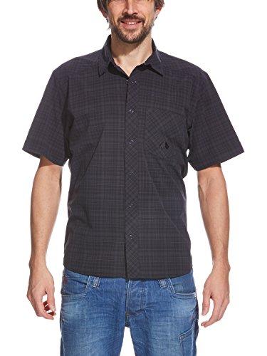 Tatonka Veste pour Homme Marti Chemise pour Homme à Manches Courtes-Shirt XL Noir - Bleu Nuit