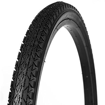 "WANDA Beach Cruiser Bicycle Tire, Black, 26"""