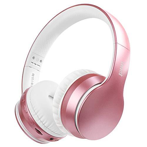 Auriculares Bluetooth 5.0 de Diadema Plegable,Sunvito 4 en 1 Estéreo Bass Inalámbrico Auriculares con Reproductor MP3,FM Radio,Auriculares con Cable,Mic Arriba-Oreja.