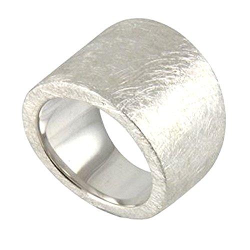 massiver Silber Ring hochwertige Goldschmiedearbeit aus Deutschland (Sterling Silber 925, mattiert) massiver breiter Damenring