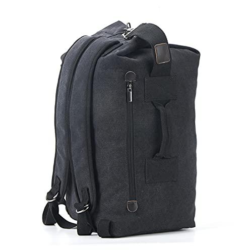 Mochila de lona de gran capacidad de 30 x 20 x 55 cm, con marco interno, mochila de viaje para hombre