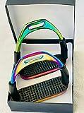 generisch Steigbügel Rainbow Flexi Stahl - Sicherheitssteigbügel