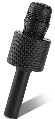 Microfono Karaoke, Ankuka K9 Microfono Bluetooth Wireless per Bambini con Altoparlante, Funzione Duetto, Home Party Speaker Bluetooth Portatile, Compatibile con Android IOS PC Smartphone, Nero