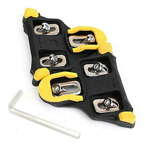 Road Bike Cleats 6 Degree Float SelfLocking Replacement Cycling Pedals Cleat for Shimano Yellow