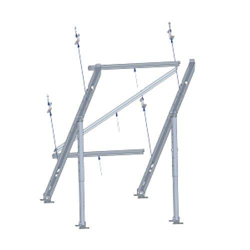 Tecatel - Soporte Vertical Suelo/Pared Panel Solar una Unidad, inclinación Ajustable