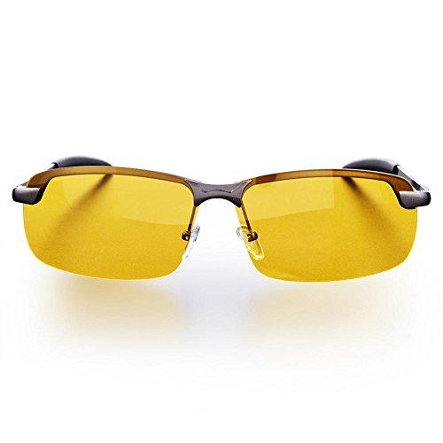FTVOGUE Conducción Nocturna Vista polarizada Gafas de Seguridad Antideslumbrante Gafas de visión Nocturna HD antirreflectantes