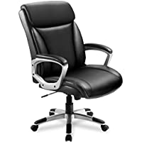 ComHoma Back Comfortable Ergonomic Managerial Office Chair (Black)