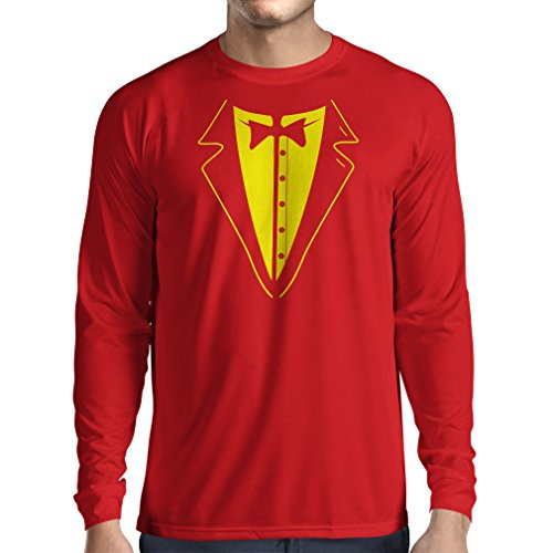 N4590L Camiseta de Manga Larga Gran Jefe (X-Large Rojo Multicolor)