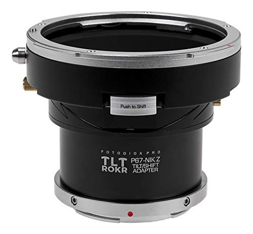 Fotodiox Pro TLT ROKR Tilt/Shift Lens Mount Adapter Compatible with Pentax 6x7 Lenses to Nikon Z-Mount Mirrorless Camera Bodies