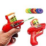 JUSTDOLIFE 2 Sets Juguete para niños Juguete Creativo Lanzador de Disco Volador...