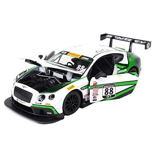 GAOQUN-TOY 01:24 Bentley Continental GT3 Motorsport Super Voiture De Sport Simulation Alliage Modèle De Voiture Coffret Cadeau Décoration (Couleur : White:88, Taille : 20CM*8.2CM*5.3CM)