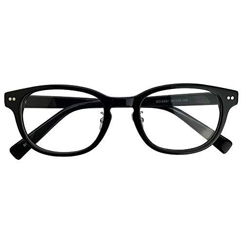 SHOWA 遠近両用メガネ ウェリントン (ブラック) (レディースセット) 全額返金保証 境目のない 遠近両用 眼鏡 老眼鏡 おしゃれ レディース 女性 リーディンググラス (瞳孔間距離:69mm〜70mm, 近くを見る度数:+3.0)