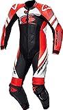 Spyke Storil Race - Chándal para moto entera (talla 48), color negro y rojo