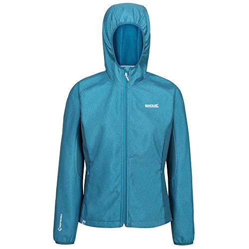 Regatta Damen Womens Arec II Warm Backed Woven Strech Durable Water Repellent Fabric Wind Resistant Jacket Jacke, blau, 40