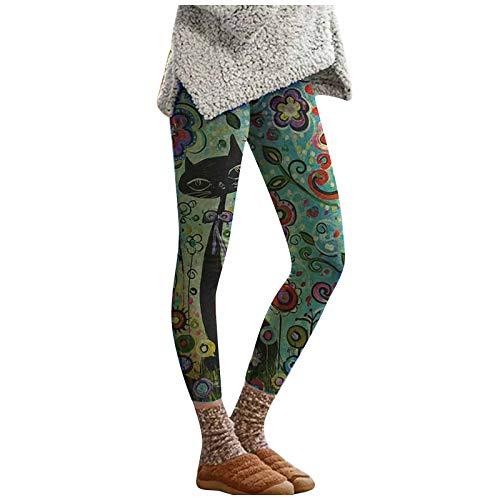 Mymyguoe Pantalones Yoga Mujer Leggings Señoras Sin Costura Imprimir Deportes Fitness Gimnasio Legging Cintura Alta Pantalones Deportivos Mallas para Running Training Estiramiento Yoga