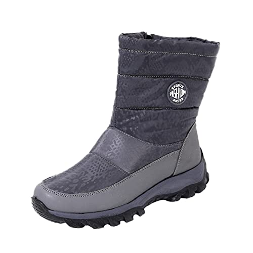 Padaleks Womens Snow Boots Waterproof Non Slip Platform Shoes Comfort Outdoor Fur Lined Winter Warm Ankle Booties
