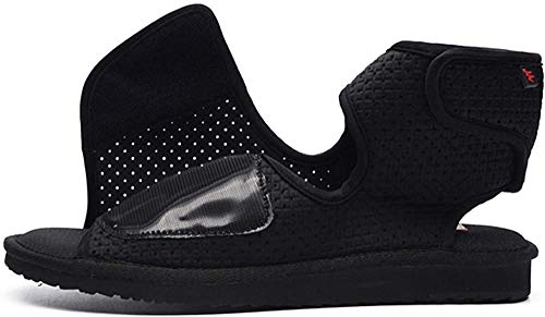 MMWW Zapatos para Hombre con Edema diabético,Edema Extra Ancho Zapatos hinchados Comfort Calzado anciano-45 i_Negro,Zapatos de recuperación para diabéticos Zapato ortopédico de la casa