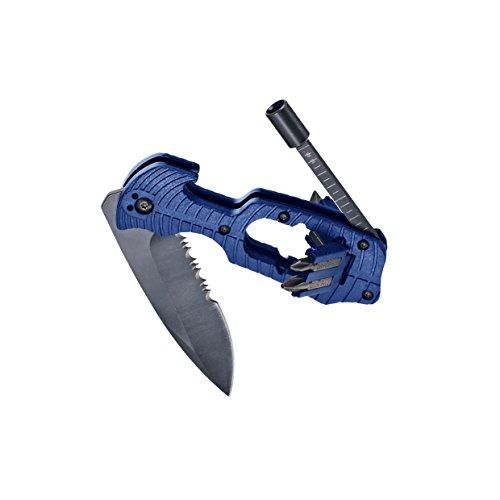 kwb klappbares Freizeitmesser 016600 (mit Sägenfunktion und integriertem magnetischem Bithalter, mit 4 gängigen Bits)