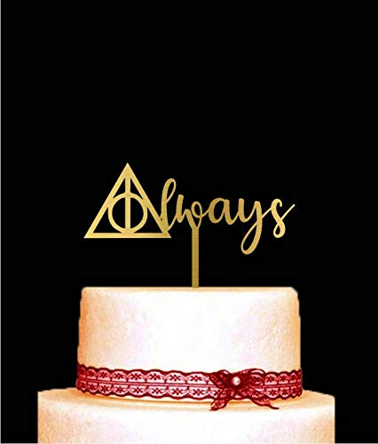Harry Potter Cake Topper For Wedding, Always Cake Topper For Anniversary Wooden Or Acrylic Cake Topper Cake Decoration Custom Made Party Supplies Cupcake Topper