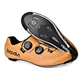 Cycling Shoes for Women Men Road SPD Bike Cycling Shoes Spin Shoestring with Compatible SPD Look Delta Cycle Riding Cleat Peloton Shoes,Yellow,43