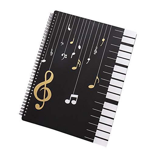 XdiseD9Xsmao A4 Bestand Map Papier Organizer Album, 20/30-Pagina Document Opbergtas Beschermer 30 Pages Piano-sleutel