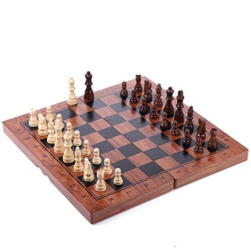 HHOSBFSS 29 34 39 cm Magnetic Folding Schach, Hochwertige Holz Premium Druck Senden Ersatzunterhaltung Schachbrett, Spiel Kinder Geschenk (Color : 29cmx29cm)
