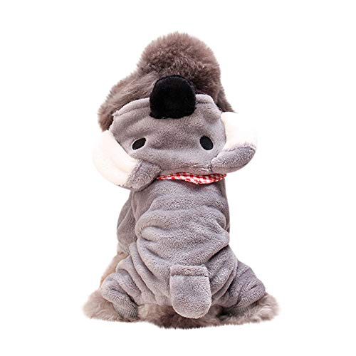 jieGorge Pet Clothes Dog Cat Cute Pig Transfiguration Coat Dress, Home Products for Christmas Day (Gray XS)