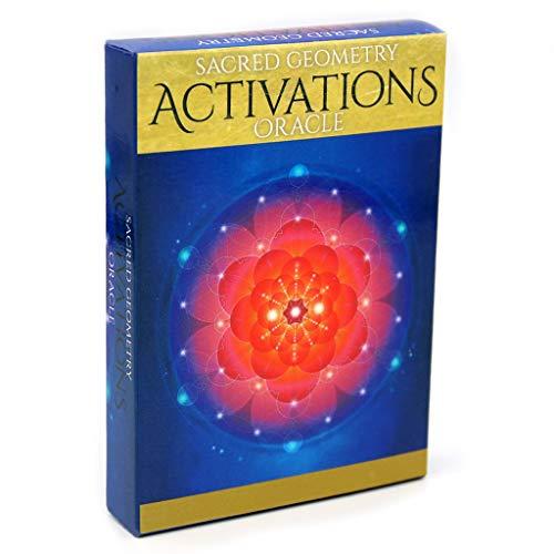 MSEKKO Speelkaart 44 Kaarten Speelkaart Heilige Geometrie Activeringen Oracle Deck Familie Party Bordspel