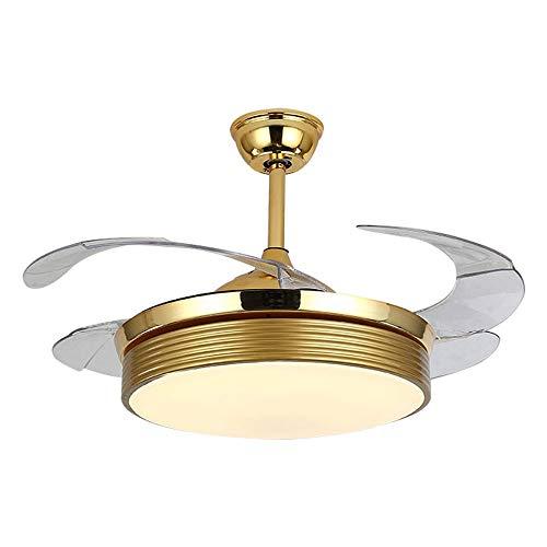 HEMFV Luz del Ventilador de Techo Ventiladores en el Techo de Intensidad Regulable Fandelier con Techo Luces LED Ventilador Juego de Luces