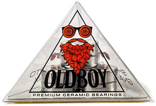 Oldboy Premium Ceramic Skateboard Bearings (608RS ZrO2 at 8 x 22 x 7 mm) for Standard Skate Board Wheels - Good for Longboards, Quad Skates, Inline Stakes, Rollerblades and Scooters Too