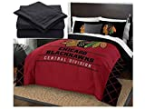 The Northwest Company NHL Chicago Blackhawks Rotary Full Bed in a Bag Set, red