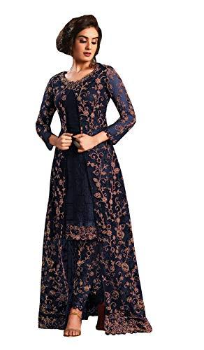 Delisa Ready to Wear Patiala Salwar Embroidered Cotton Salwar Kameez...