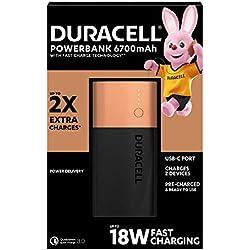 Batería externa Duracell de 6700 mAh