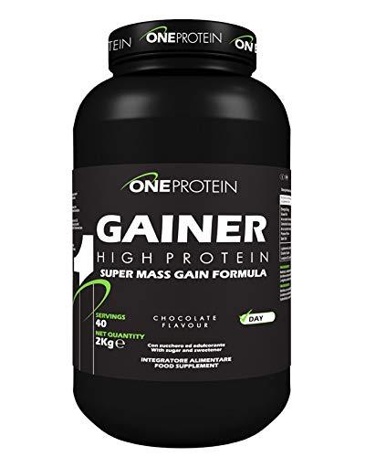 Gainer integratore alimentare a base di carboidrati e proteine con glutammina, arginina e creatina (Cioccolato, 1000 grammi)