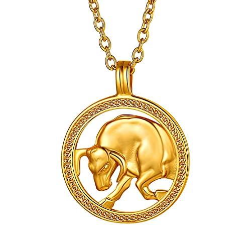 Collar de Tauro bañado en oro