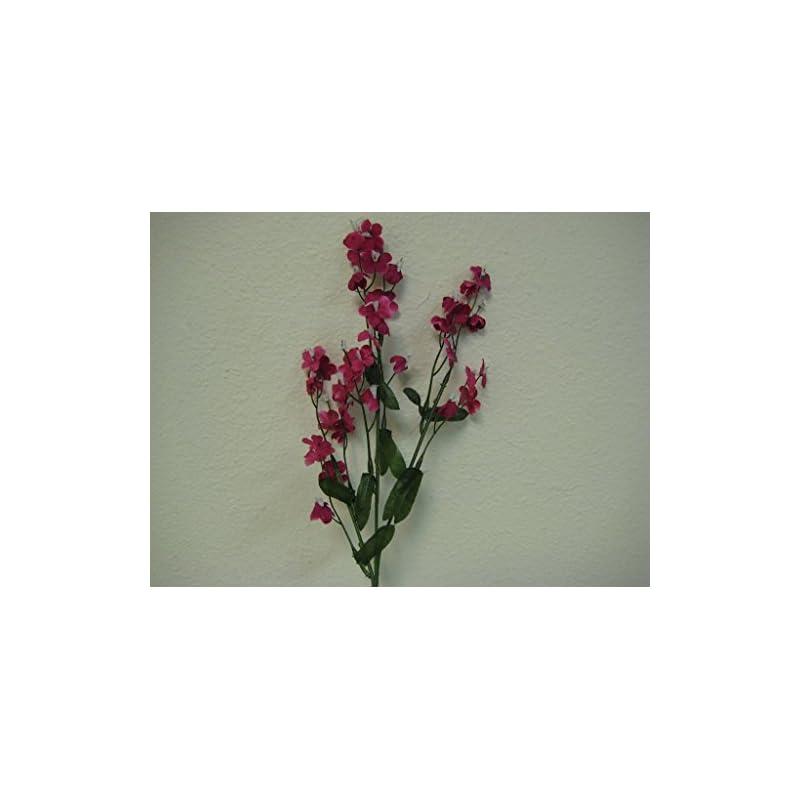 "silk flower arrangements 12 sprays ruffle baby breath filler artificial silk flowers 18"" stem 828 fuchsia"