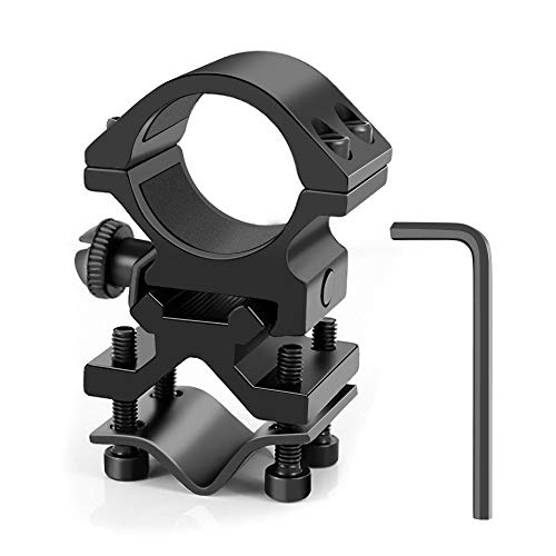 Weitars 1 Inch Scope Ring Offset Picatinny/Weaver Rail Mount for Flashlights Size Adjustable Light Mount Accessories