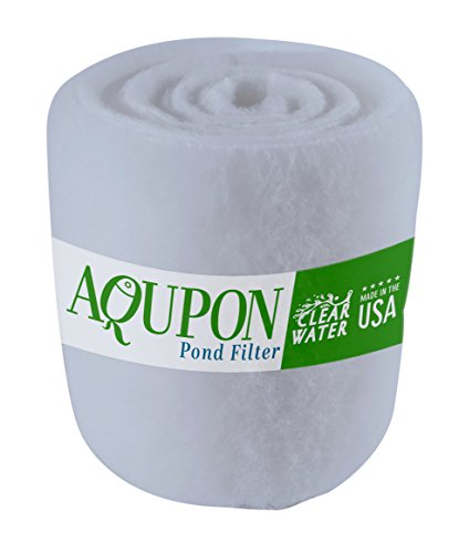 AQUPON Koi Pond Filter Media Pad - Cut to Fit Roll (Dye-Free/Blue Bonded) - 1.25 Inch Thickness (6...