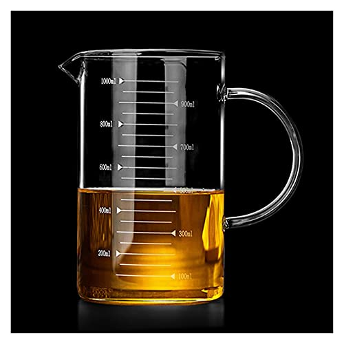 XIN NA RUI Pyrex Jug Large Glass Measuring Cup Borosilicate Glass Kitchen Liquid Measuring Jug Glass Cup with Measurement Scale Kitchen Accessories (Color : 350ml)