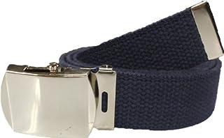 """Army Web Belt 100% Cotton Canvas Military Color Belts 54"""" Long"""
